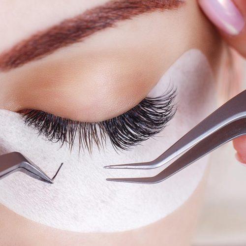 Eyelash extensions treatments